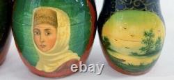 10 Pc Matryoshka Russian Artist Signed Hand painted Babushka Nesting Dolls