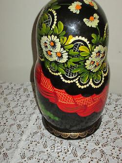 10 Pc. Russian Vintage Nesting Dolls beautiful LARGE