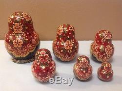 10 Pcs Russian Nesting Dolls Matryoshka Samovar Circa 1997