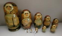 10 Piece Russian Nesting Doll VIEWS OF ST PETERSBURG & OLD RUSSIA 10 Piece