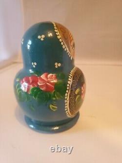 10 Piece Set Gorgeous Russian MATRYOSHKA Nesting Dolls Multi color