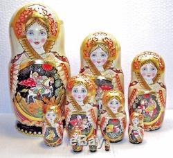 10 dolls, Russian Matryoshka, by the author, 10