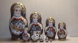 10 dolls, Russian Matryoshka, by the author, 9,4
