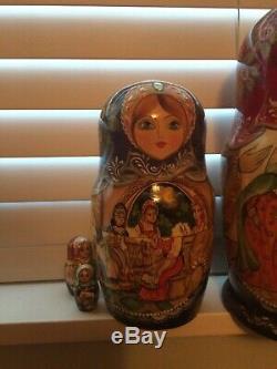 10 peice russian nesting dolls