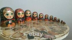 11 Inch Signed Russian Nesting Dolls 1994