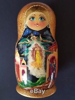 11 Set of 10 Matryoshka Russian Nesting dolls hand painted from Tver Russia