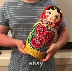 14Russian Nesting Dolls, 20pcs Traditional Matryoshka Classic Semyonov Red Shawl