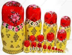 14 Big 20 Pieces Russian Traditional Matryoshka Nesting Dolls Semyonov 20pcs