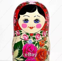 14 Big 20 Russian Traditional Matryoshka Classic Nesting Dolls Semyonov 20pcs