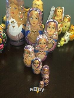 15 Assorted Nesting Dolls Plus