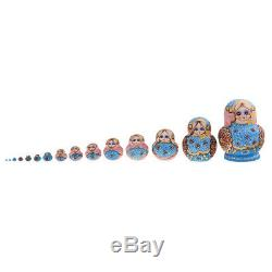 15 Pcs Nesting Dolls Matryoshka Babushka Russian Girl Hand Painted Doll New