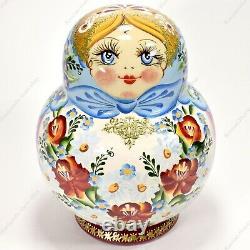 15 Piece Set Gorgeous Russian Authentic Matryoshka Nesting Dolls 15pcs