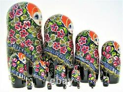 15 Poupées russes H31cm peint main signé Matriochka Russian Dolls Matrioshka