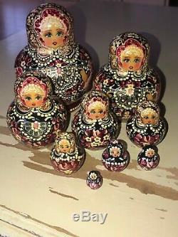 17 Piece Set Gorgeous Russian Authentic Matryoshka Nesting Dolls 17pcs Russia