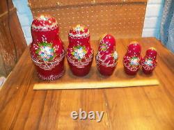 1998 Russian Matryoshka Nesting Dolls Signed