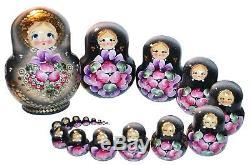 19- Pc Russian Nesting Dolls Matreshka #6776
