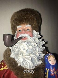 2002 Clothtique Possible Dreams Santa 890167 Glazov Russian Nesting Doll NWT