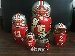 2002 Ohio State National Championship 5 Piece Russian Nesting Doll. Clarett EX