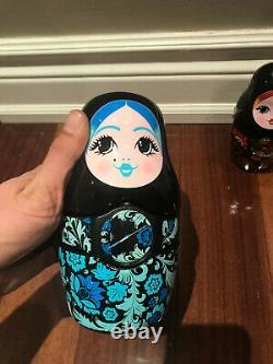 2013 Rare Kalinka Malinka Swatch 3 Watches Russian Matryoshka Nesting Dolls USED