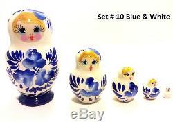 20 Russian Hand Painted Nesting Doll Matryoshka 5 pcs Sets Wholesale Bulk Price