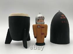 2pcs Russian Nesting doll USSR Space program 6 Wooden Matryoshka Hand-painted