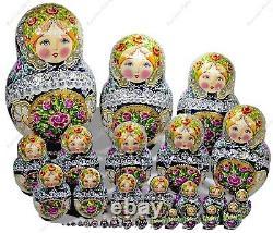30 Pieces Russian Authentic Matryoshka Nesting Dolls Gorgeous Author's 30pcs