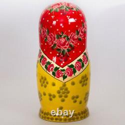 30-pc Large Matryoshka Nesting Doll, Handmade Russian Doll With Flowers, 18