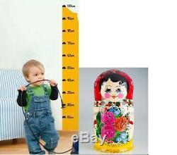 30pc Nesting Doll Matryoshka XL SET HUGE RUSSIAN DOLLS Semenov Yellow Red Flower