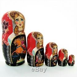 5 Poupées russes H19 exclusive Palekh signé Matriochka Russian Dolls Bonecas