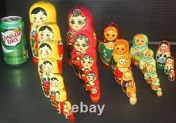 5 Russian Matryoshka Nesting Dolls 27 Pieces Stacking Dolls
