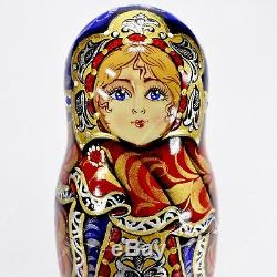 6 Author's Gorgeous Authentic Russian Traditional Matryoshka Nesting Dolls 7pcs