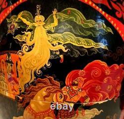 9 Piece Russian Matryoshka Nesting Dolls 1991 Hand Painted Folk Art