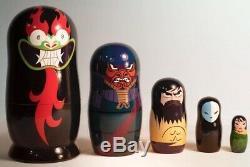 Adult Swim Samurai Jack Russian Nesting Dolls Set Rare Cartoon Network Promo #85