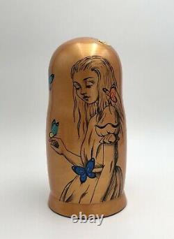 Alice In Wonderland Inspired Matryoshka, Russian nesting dolls, Babushka