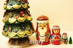 Alkota Genuine Russian Collectible Nesting Doll My Unique Christmas, 14H
