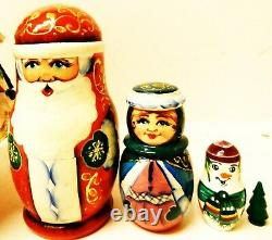 Alkota Genuine Russian Collectible Nesting Doll Our Christmas, 14H