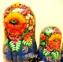 Alkota Russian Authentic Wooden Collectible Nesting Doll Fairy Tales, 9, Unique