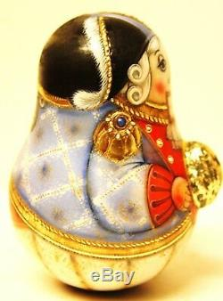 Alkota Russian Genuine Collectible Musical Nutcracker with Nut, 25 Stones