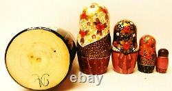 Alkota Russian Genuine Wooden Collectible Nesting Doll Eudoxia, 6.5H