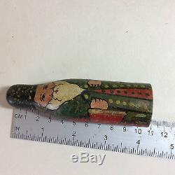 Antique Russian Dolls Skittle Figures Folk Art 3.5 4 inches Full Set & Ball