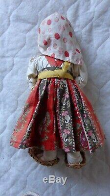 Antique Russian stockinette doll Tanika with original tag, 1930s, USSR/Russia