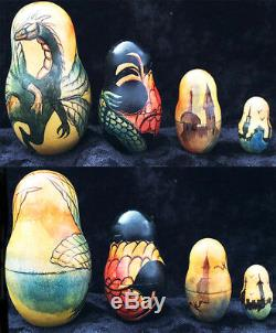 Attention Collectors, Art nouveau Nudes Russian One of kind Nesting Doll 10pc