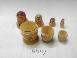 Authentic Original 1962 Sign Vintage Russian Nesting Dolls Matpewka Matryoshka