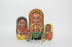 Author's russian matryoshka African kids