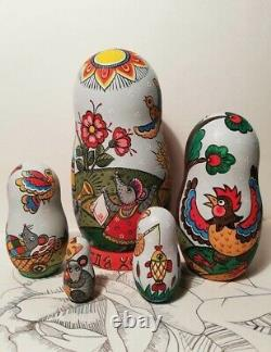 Author's russian matryoshka Cat-and-mouse