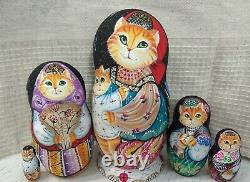 Author's russian matryoshka Cat's lullaby