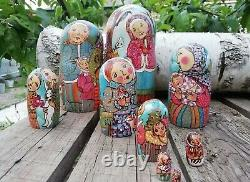 Author's russian matryoshka Domestic scenes