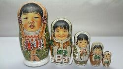 Author's russian matryoshka Peoples of the NorthEskimos