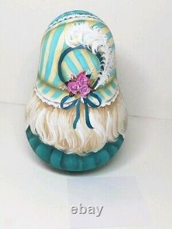 Author's russian matryoshka Rolly Polly Bell Doll Girl with a bear