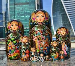 Author's russian matryoshka Russian fairy tales